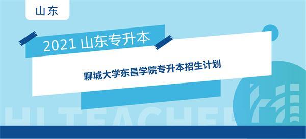 2021年聊城大学东昌学院专升本招生计划