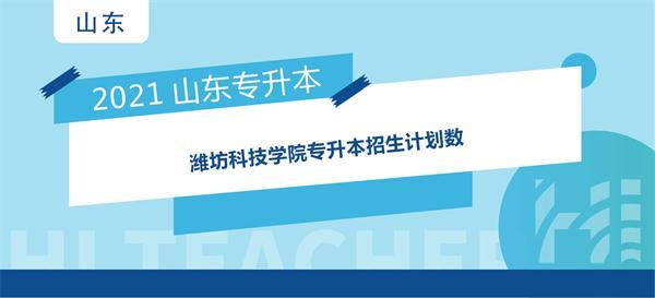 2021年潍坊科技学院专升本招生计划数