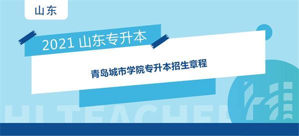 2021年青岛城市学院专升本招生章程