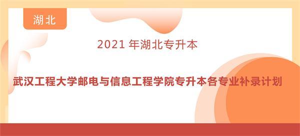 2021年武汉工程大学邮电与信息工程学院专升本各专业补录计划